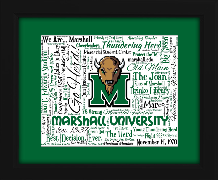 Marshall Thundering Herd gift ideas for graduation birthdays college ...